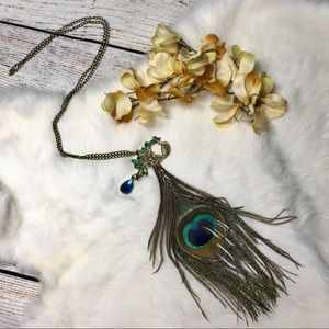 5/$25 Peacock Statement Necklace